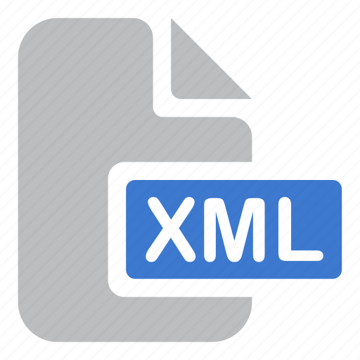 document, extension, file, xml icon