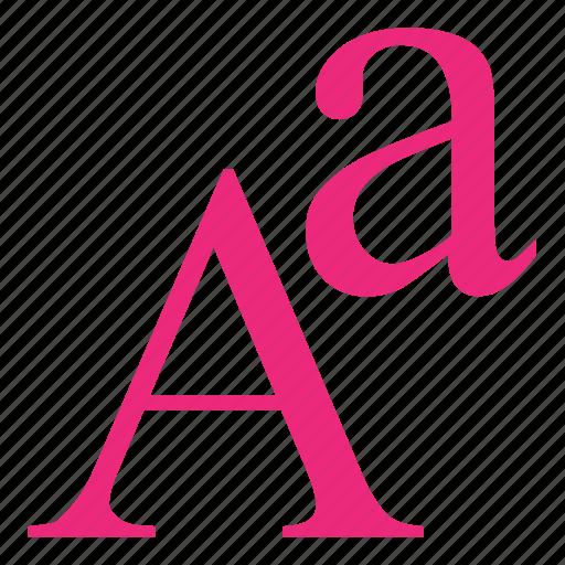 alphabet, font, serif, type icon