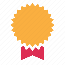 badge, certificate, diploma, license, patent, prize, winner icon