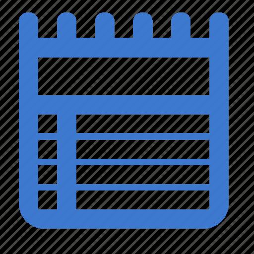 calendar, list, plan, schedule icon