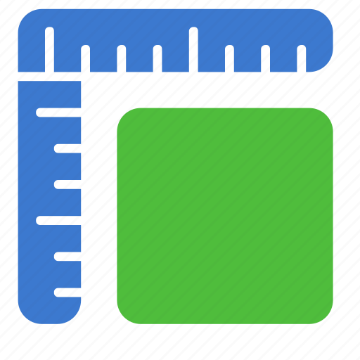 drawing, measurement, scale, straightedge, tool icon
