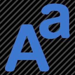 font, language, letters, type icon