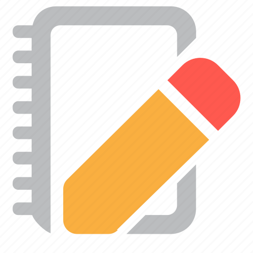 drawing, edit, notebook, paper, pencil, write, writing icon