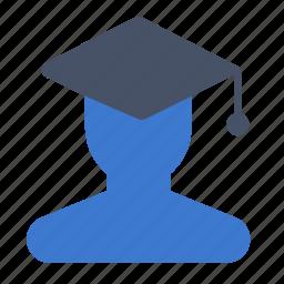 avatar, boy, education, graduate, pupil, student icon