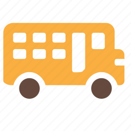 bus, children, school, transport, vehicle icon