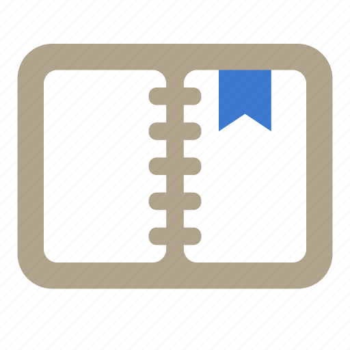 bookmark, list, moleskin, notebook, notepad icon