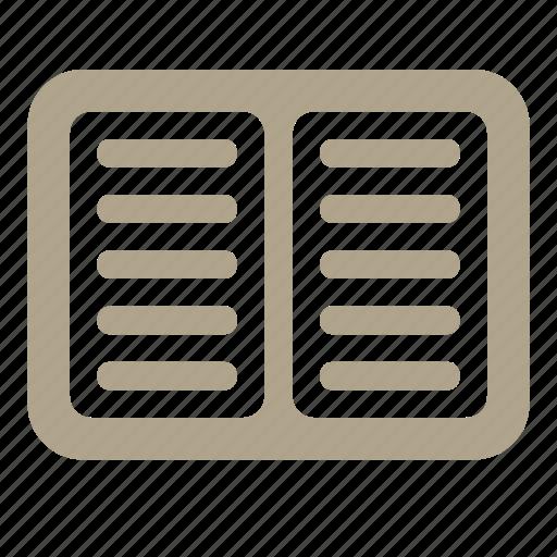 book, copybook, list, open icon
