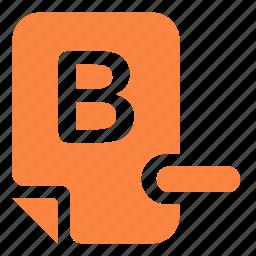 assessment, evaluation, mark, mark b- icon