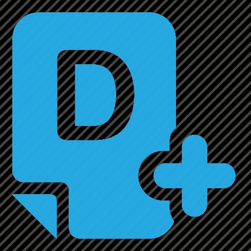 assessment, evaluation, mark, mark d+ icon