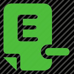 assessment, evaluation, mark, mark e- icon
