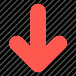 arrow, crisis, decrease, direction, down icon
