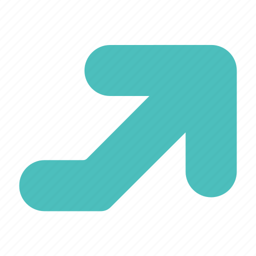arrow, direction, elevation, right, up icon