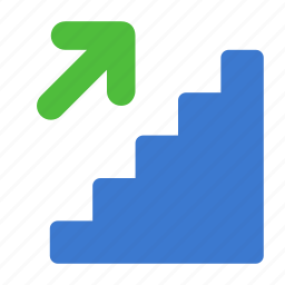 career, elevation, ladder, staircase, stairs, up icon