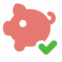 bank, cash, deposit, finance, money, piggy, salary icon