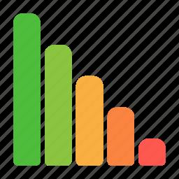 analytics, chart, graph, recession, report, statistics icon