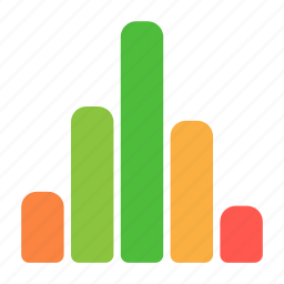 analytics, chart, fall, graph, report, rise, statistics icon