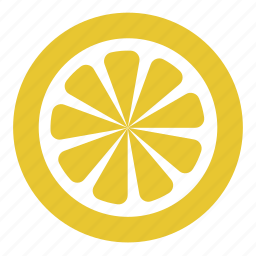 citrus, drink, lemon, slice icon