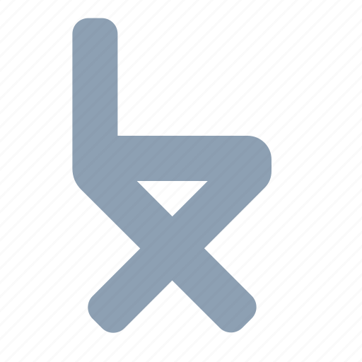 chair, director, folding, furniture icon