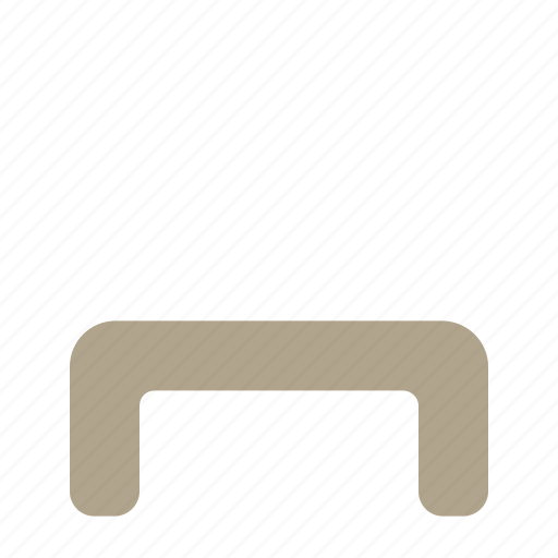 bench, desk, furniture, seat icon