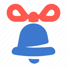 bell, bow, decoration, sound icon
