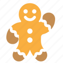 baking, christmas, cookie, man icon