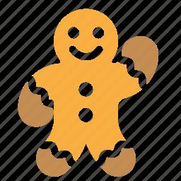 baking, christmas, cookie, man icon