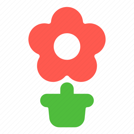 ecology, flower, plant, pot, present icon