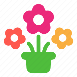ecology, flowers, gift, plant icon
