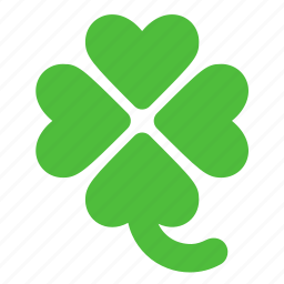 four, four leaved shamrock, leaved, lucky, shamrock icon
