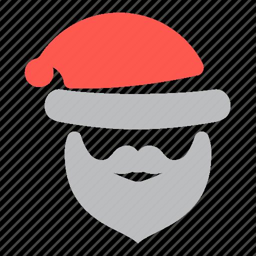 christmas, claus, head, santa, santa claus icon