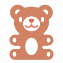 bear, gift, present, teddy, toy icon