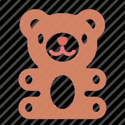 bear, gift, present, teddy, toy icon