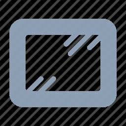 glass, home, interior, mirror, office icon