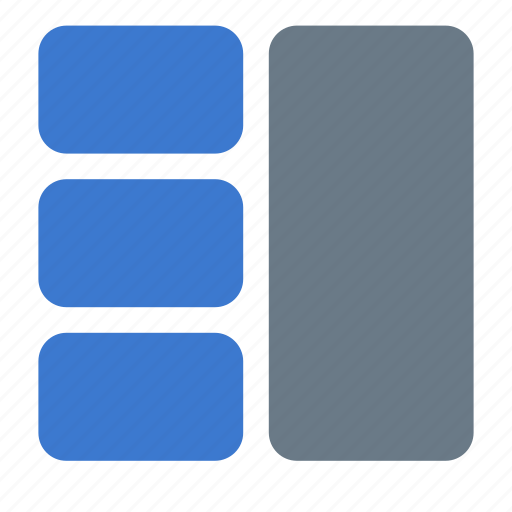 grid, layout, section icon
