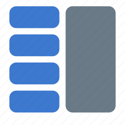 grid, icojam, layout, sections icon