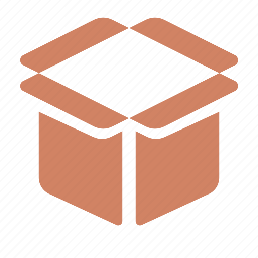 box, crate, opened, package, product icon
