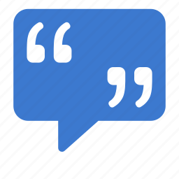 bubble, chat, comment, message, quote icon