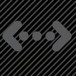 code, coding, development, html, tag icon