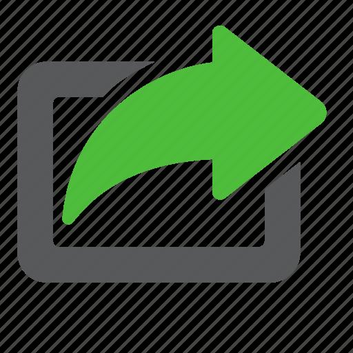 arrow, export, send, share, social icon
