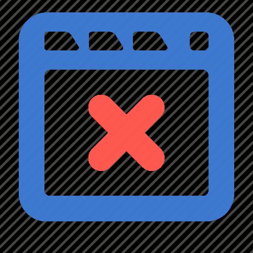 app, browser, close, site, tab, web, window icon