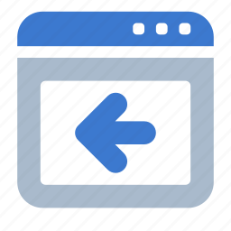 app, back, browser, previous, web, window icon