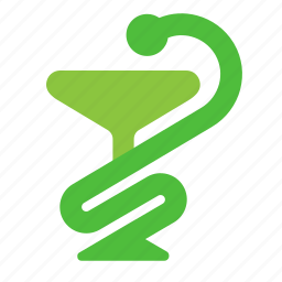 bowl, cup, medicine, poison, snake icon