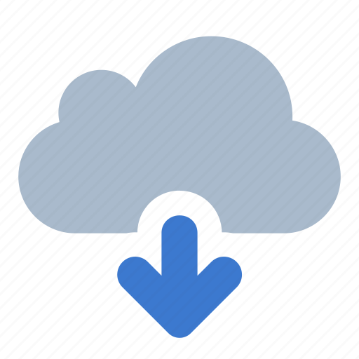 cloud, data, download, file, save, storage icon
