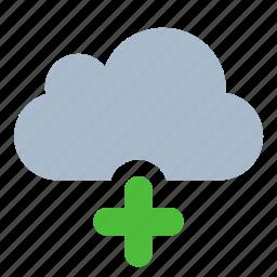add, cloud, data, new, storage icon