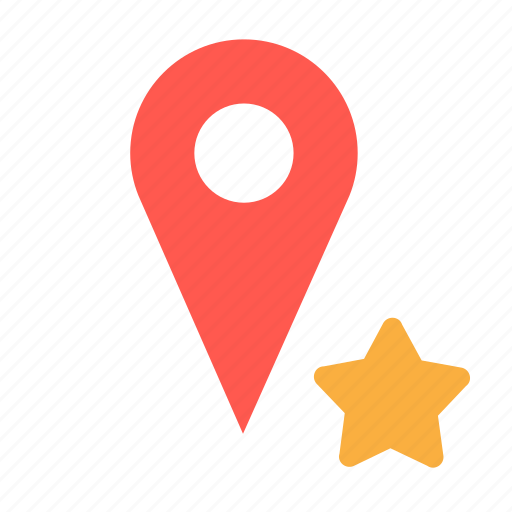 bookmark, favorite, gps, location, pin icon