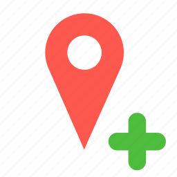 add, gps, location, navigation, new, pin icon