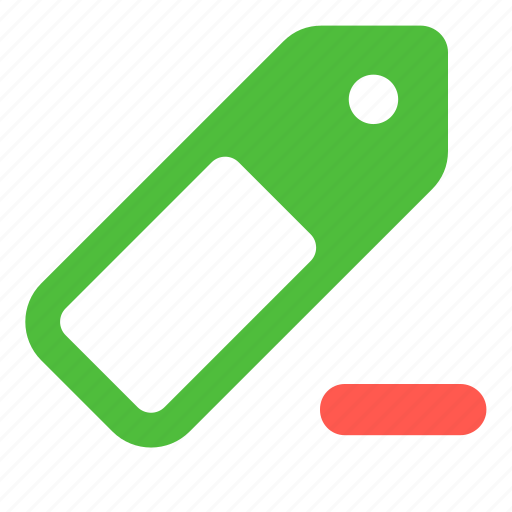 delete, label, price, remove, sale, stock, tag icon