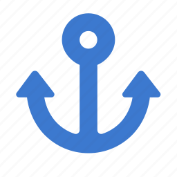 anchor, delivery, marine, nautical, shipping icon