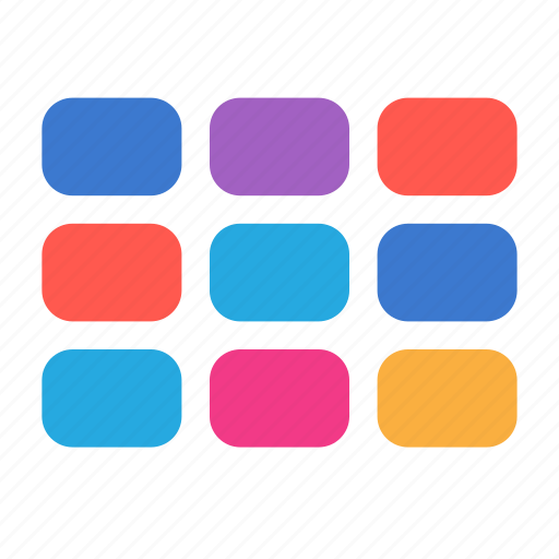 categories, grid, layout, previews icon