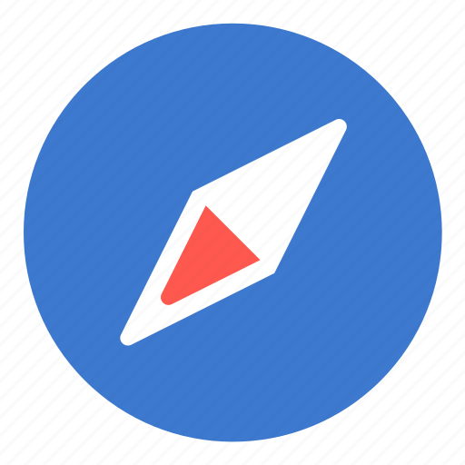 browser, compass, direction, navigation, pointer icon